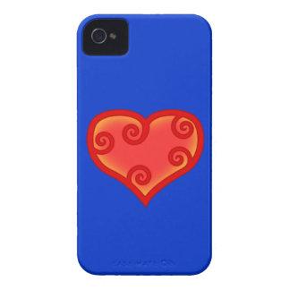 Herz Spiralen heart spirals iPhone 4 Cover
