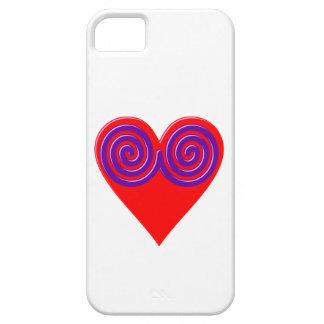 Herz Spiralen heart spirals iPhone 5 Case