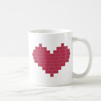 Herz Ziegel heart bricks Kaffeetassen