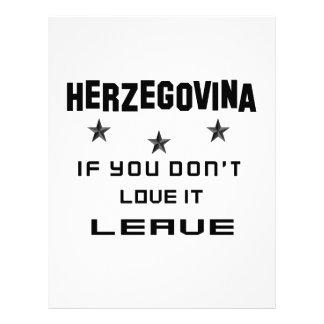 Herzegovina If you don't love it, Leave Letterhead