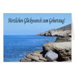 Herzlichen Glueckwunsch zum Geburtstag - San Diego Greeting Card