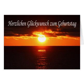Herzlichen Glueckwunsch zum Geburtstag - Sunset Greeting Card