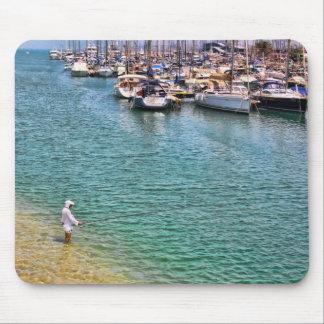 Herzliya Marina boats Mouse Pad