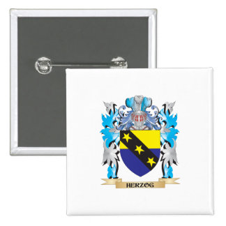 Herzog Coat of Arms - Family Crest Pinback Button