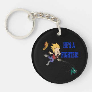 Hes A Fighter 2 Keychain