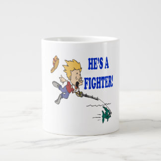 Hes A Fighter 2 Large Coffee Mug