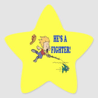 Hes A Fighter 2 Star Sticker