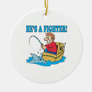 Hes A Fighter Ceramic Ornament