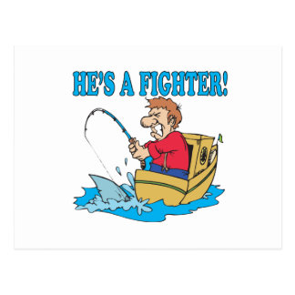 Hes A Fighter Postcard