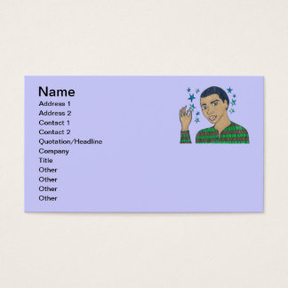 He's a Super Star a shining Star/Dominic soars Business Card