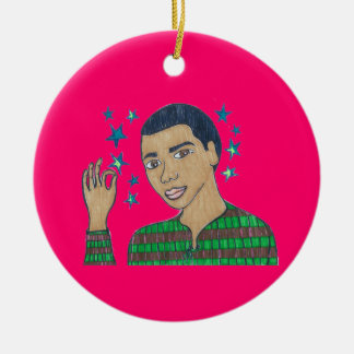 He's a Super Star a shining Star/Dominic soars Ceramic Ornament