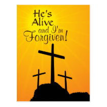 He's Alive and I'm Forgiven Custom Easter Postcard