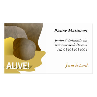 He's Alive! Business Card
