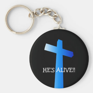 HE'S ALIVE!!... Religious keyring Basic Round Button Keychain