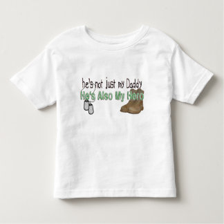 He's Also My Hero Toddler T-shirt