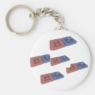 Hes as H Hydrogen and Es Einsteinium Key Chains