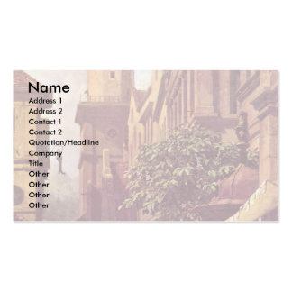 He'S Coming By Spitzweg Carl Business Card Template