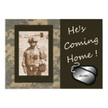 "He's Coming Home! Welcome Home Party 5"" X 7"" Invitation Card"