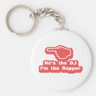 Hes DJ Im el golpeador Llavero Redondo Tipo Pin