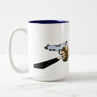 "He's ""Drawn"" a Gun - Collectible Coffee Mug"