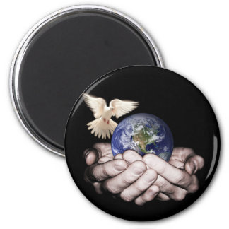 He's Got The Whole World... 2 Inch Round Magnet
