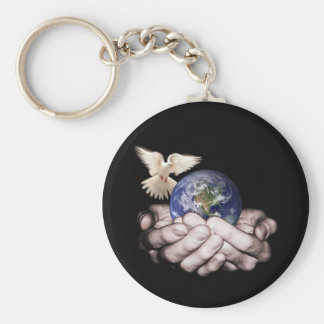 He's Got The Whole World... Basic Round Button Keychain
