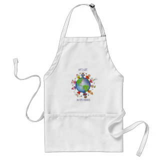 He's Got the Whole World in His Hands Adult Apron