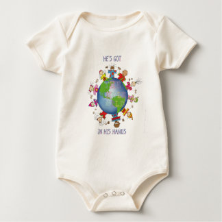 He's Got the Whole World in His Hands Baby Bodysuit
