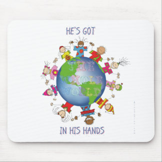 He's Got the Whole World in His Hands Mouse Pad