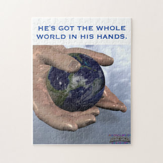 HE'S GOT THE WHOLE WORLD IN HIS HANDS PUZZLES