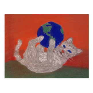 He's Got the Whole World in his Paws Postcard