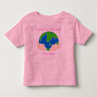 He's Got The Whole World - Toddler Ringer T-Shirt