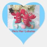 """He's Her Lobster"" sticker"