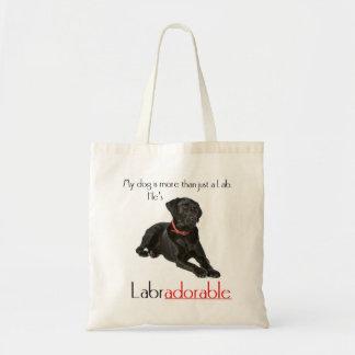 He's Labradorable Tote Canvas Bag
