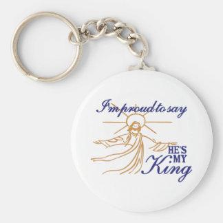 Hes mi rey llavero redondo tipo pin