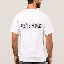 HE'S MINE. EQUAL MARRIAGE. GAY WEDDING SHIRTS