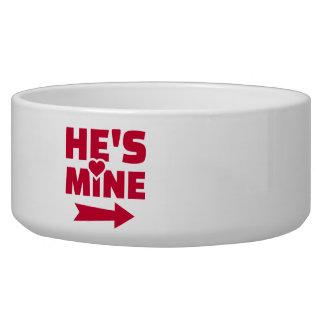 He's mine dog bowl