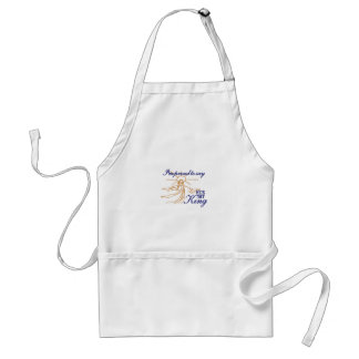 Hes My King Adult Apron