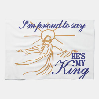Hes My King Hand Towels
