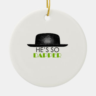 He's so dapper Double-Sided ceramic round christmas ornament
