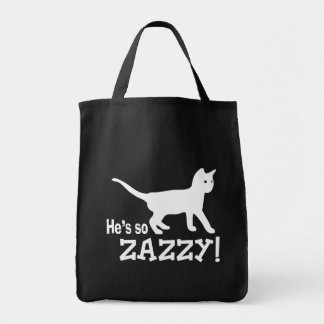 He's so Zazzy - Cat Lover Canvas Bag