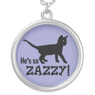 He's so Zazzy - Cat Lover Round Pendant Necklace