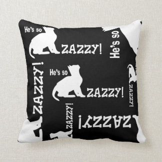 He's so Zazzy - Cat Lover Throw Pillow