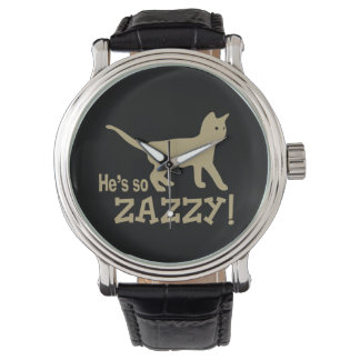 He's so Zazzy - Cat Lover Wristwatches