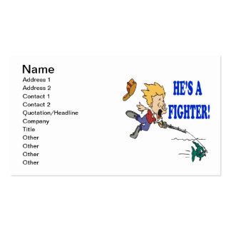 Hes un combatiente 2 tarjetas de visita