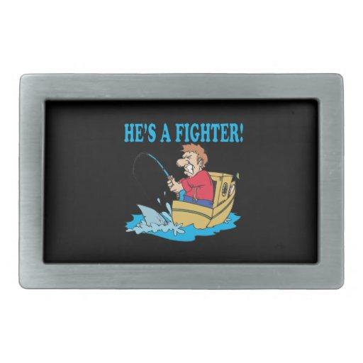 Hes un combatiente hebilla cinturón rectangular