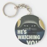 He's Watching You.jpg Keychain