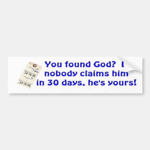 He's Yours Bumper Stickers