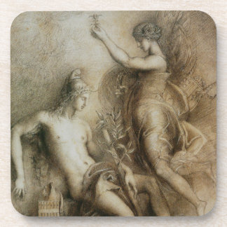 Hesiod and Muse Art by Gustave Moreau Beverage Coaster