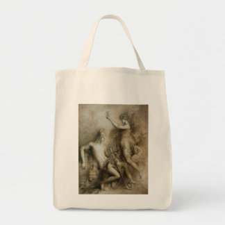 Hesiod and Muse by Gustave Moreau Grocery Tote Bag